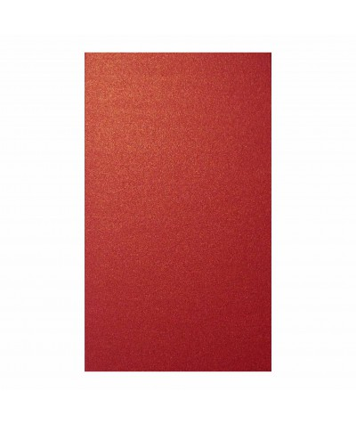 О21005 Открытка двойная красная перламутровая