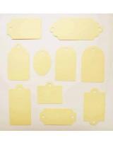 ВФ1025-2 Набор ярлычков 10 шт., цвет Слоновая Кость, фактура
