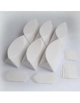 БОН1001-2 Заготовки для бонбоньерок №1 КОМПЛЕКТ 6 шт. Цвет Белый, фактура