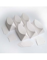БОН1001-4 Заготовки для бонбоньерок №1 КОМПЛЕКТ 6 шт. Цвет Белый, фактура