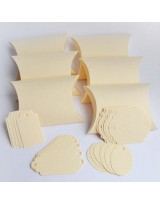 БОН3002-1 Заготовки для бонбоньерок №3 КОМПЛЕКТ 6 шт. Цвет Слоновая кость, фактура