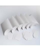 БОН3001-1 Заготовки для бонбоньерок №3 КОМПЛЕКТ 6 шт. Цвет Белый, фактура