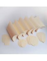 БОН3002-2 Заготовки для бонбоньерок №3 КОМПЛЕКТ 6 шт. Цвет Слоновая кость, фактура