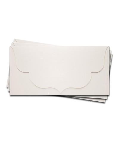 ОК3101-1 Основа для подарочного конверта №3 комплект 3шт. Цвет белый Фактура