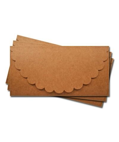 ОК1009 Основа для подарочного конверта №1 комплект 3шт.  Крафт