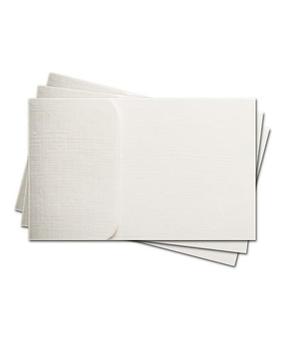ОПК1101-1 Основа для офомления подарочной КАРТЫ №1 КОМПЛЕКТ 3шт. Цвет белый, фактура