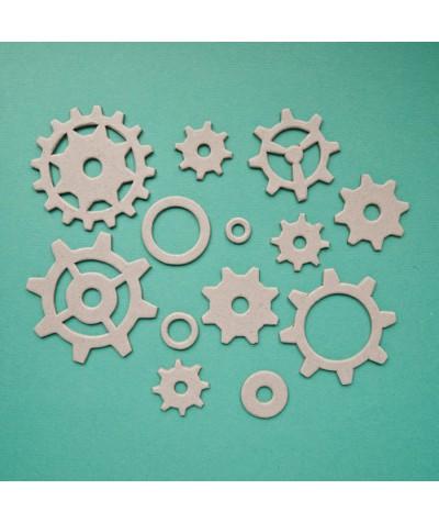 ВФ031 Набор фигурок из чипборда