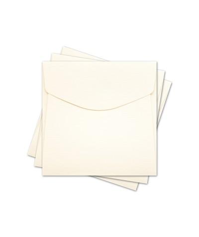 ОКО4102 Конверт для откр 10х10 см КОМПЛ. 3шт.  Цв. слон.кость Факт
