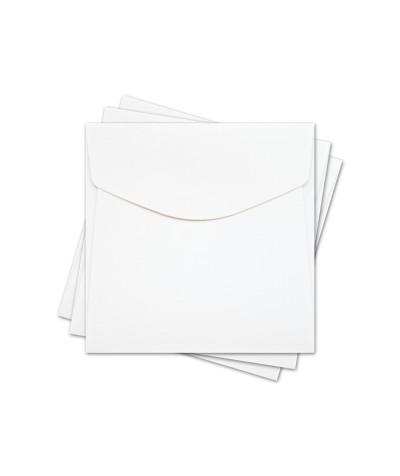 ОКО4201 Конверт для откр 10х10 см КОМПЛ. 3шт.  Цв. белый Факт