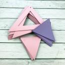 ГИР5001 Заготовка для гирлянды Треугольник 2 в 1 Сиреневый/Розовый
